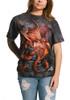 Fire Dragon T-Shirt Modeled