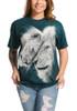 White Lions Love T-Shirt Modeled