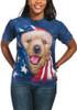 Patriotic Golden Pup T-Shirt Modeled