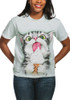 Creamy Cone Kitty T-Shirt Modeled