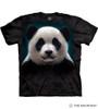 The Mountain Adult Unisex T-Shirt - Panda Head