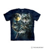 Moon Wolves Collage Kids T-Shirt