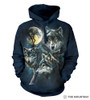 Moon Wolves Collage Hoodie
