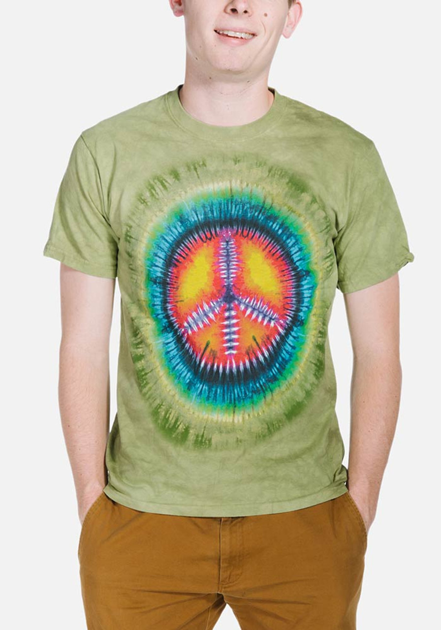 peace sign tie dye instructions