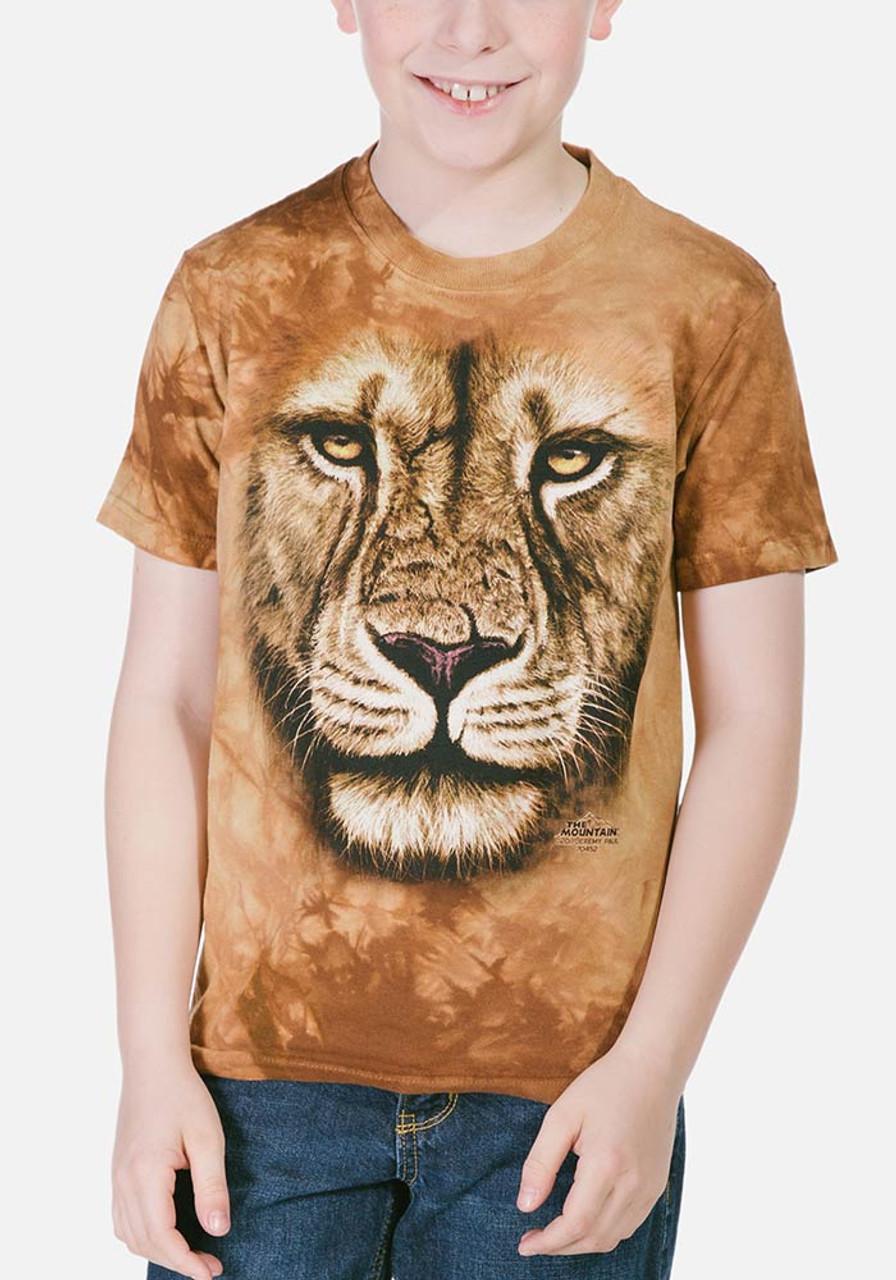 Lion warrior kids t shirt for Kids t shirt printing