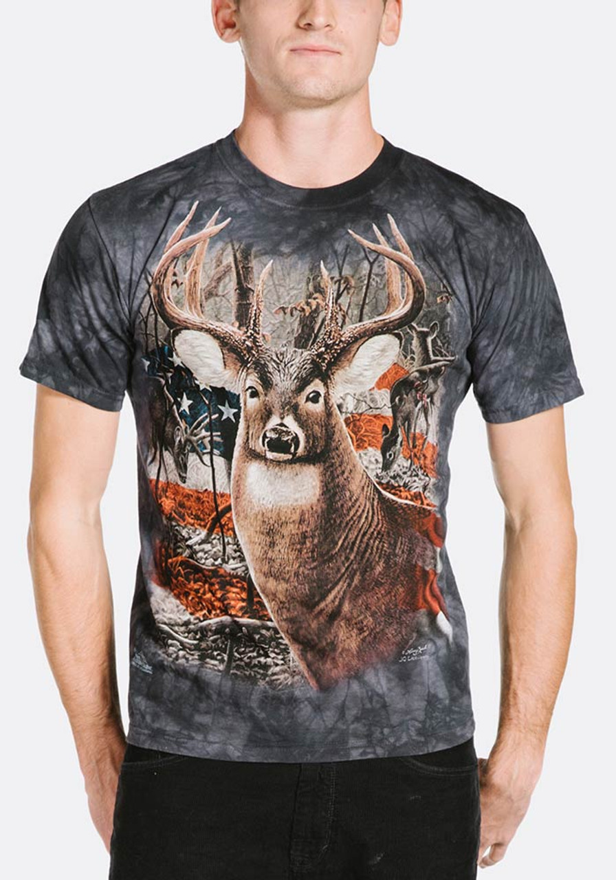 Patriotic buck t shirt for Two bucks t shirts