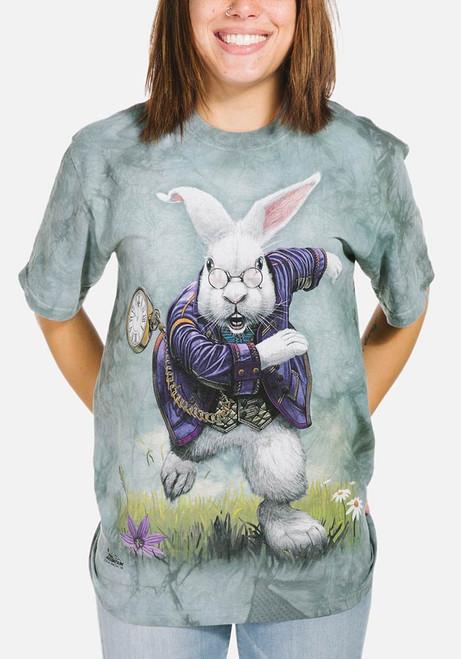 White Rabbit T-Shirt Modeled