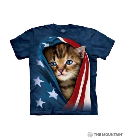 Patriotic Kitten Kids T-Shirt