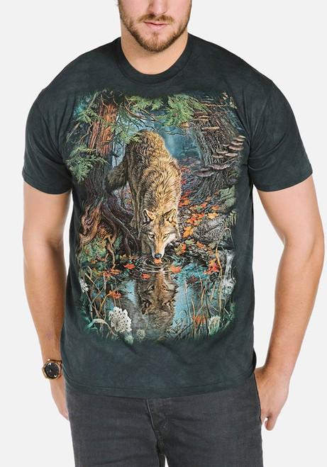 Enchanted Wolf Pool T-Shirt Modeled
