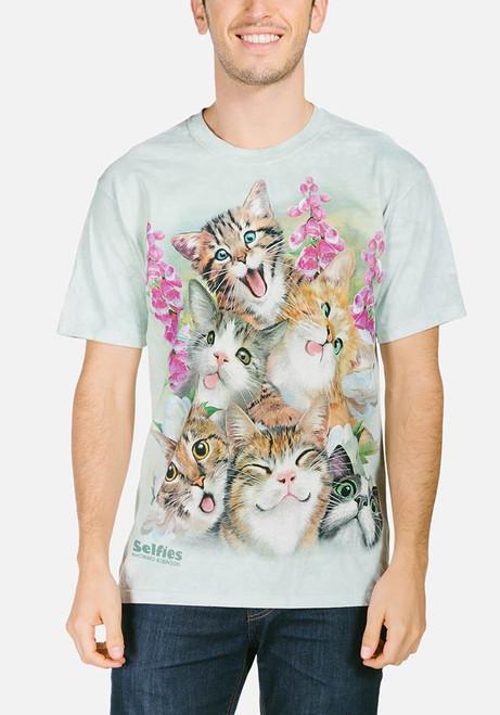 Kittens Selfie T-Shirt Modeled