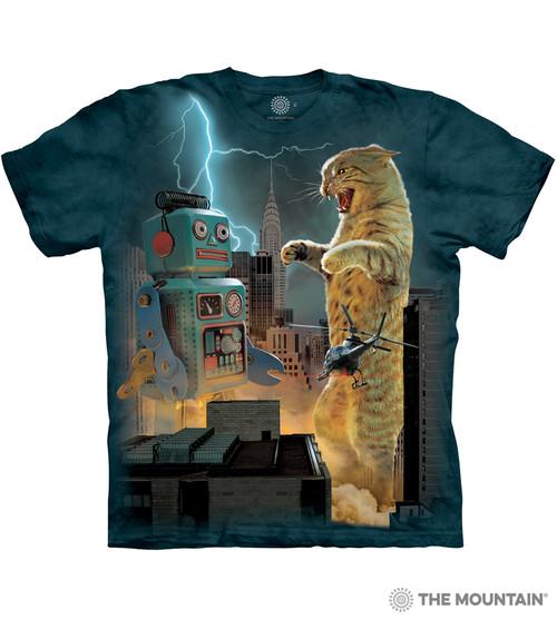 Catzilla vs. Robot T-Shirt