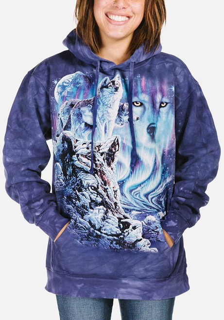 Find 10 Wolves Hoodie Sweatshirt Modeled