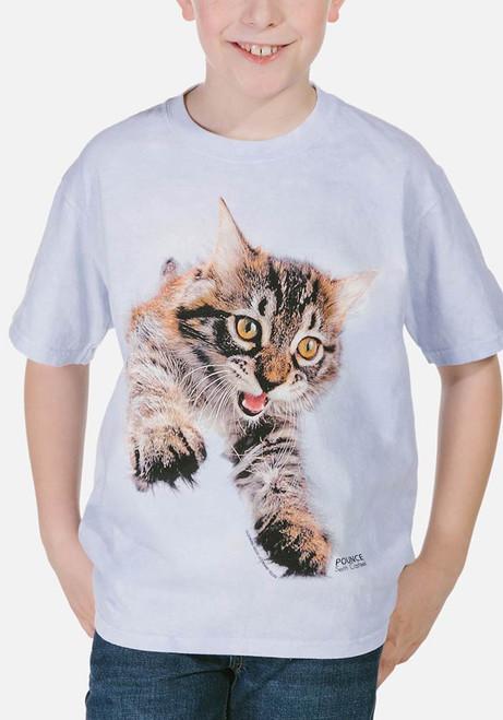 Pounce Doc Kids T-Shirt Modeled