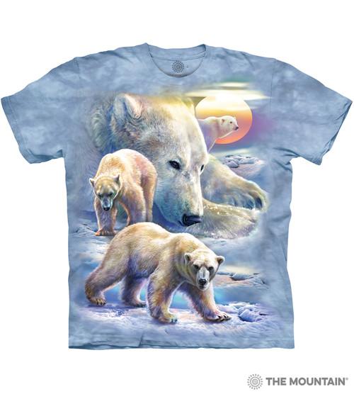Sunrise Polar Bear Collage T-Shirt