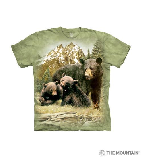 Black Bear Family Kids T-Shirt