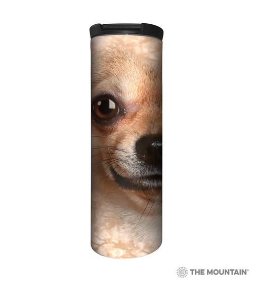 Chihuahua Face Barista Travel Mug