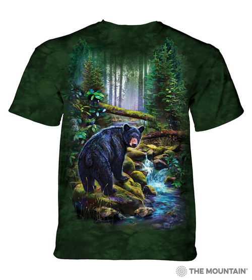 Black Bear Forest Adult T-Shirt