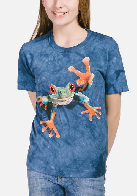 Victory Frog Kids T-Shirt Modeled