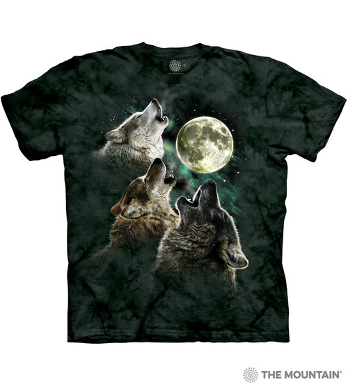 the mountain adult unisex t shirt three wolf moon classic. Black Bedroom Furniture Sets. Home Design Ideas