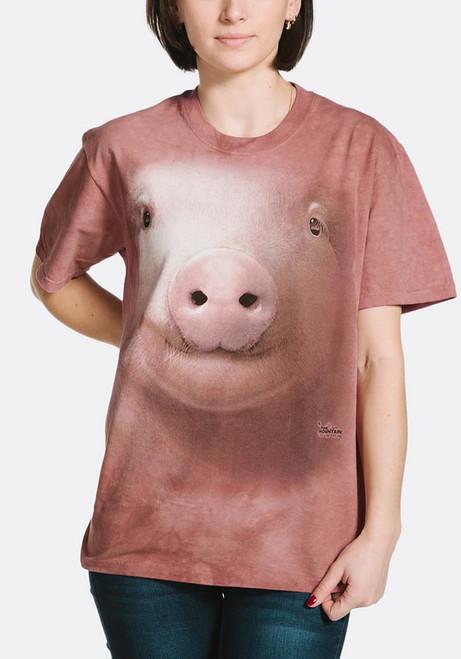 Pig Face T-Shirt Modeled