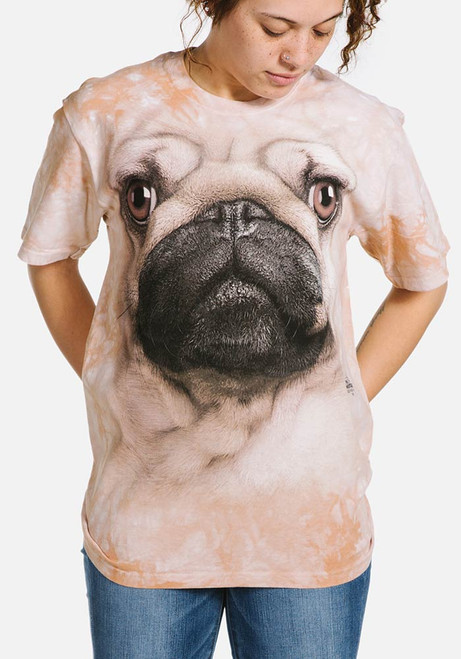 Pug Face T-Shirt Modeled