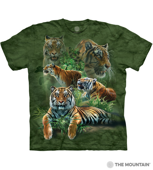 The Mountain Adult Unisex T-Shirt - Jungle Tigers 0798fb033bfc