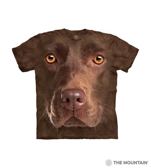 Chocolate Lab Face Kids T-Shirt