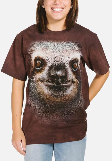Sloth Face T-Shirt Modeled