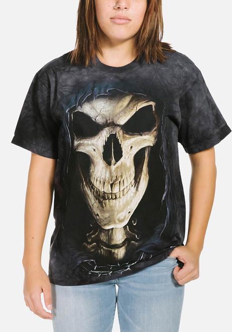 Big Face Death T-Shirt Modeled
