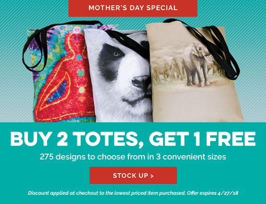 Shop Totes - Buy 2 Get One Free