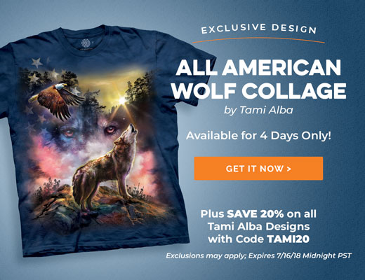All American Wolf Collage
