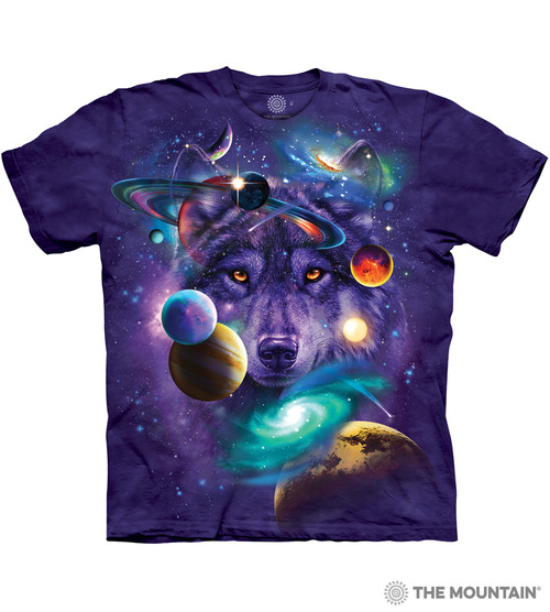 The Mountain Adult Unisex T Shirt Wolf Of The Cosmos