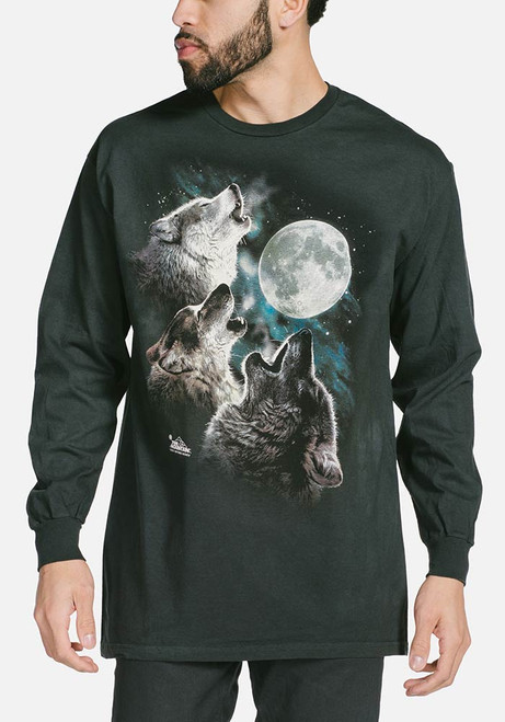 The mountain three wolf moon classic long sleeve t shirt for Mountain long sleeve t shirts