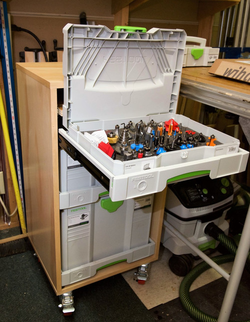 TSC-90 shown with top drawer and Systainer lid open.