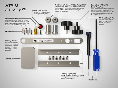 What's included in the MTR-18 Master Accessory Kit