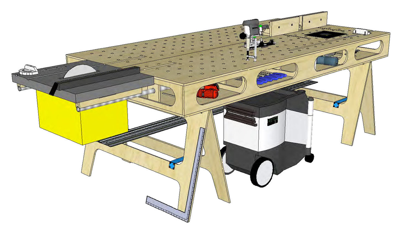 Paulk workstation ii with router table the most popular diy paulk workbench ii with router table plans keyboard keysfo Gallery