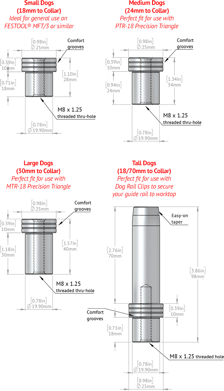 DoubleGroove Dog Dimensions