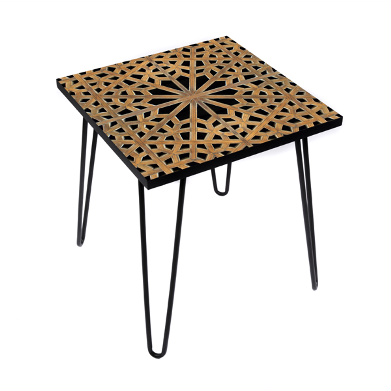 Arabesque Hex Side Table