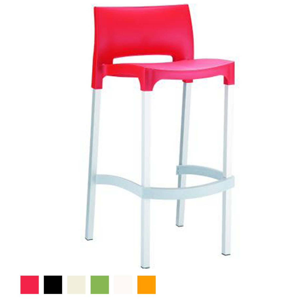Gio Resin Outdoor Bar Stool Set Of 2