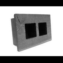 Mini Double Grovert Wall Planter - Gray