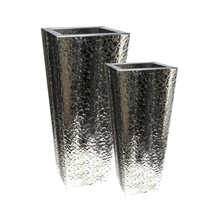Hammered Steel Tapered Planter