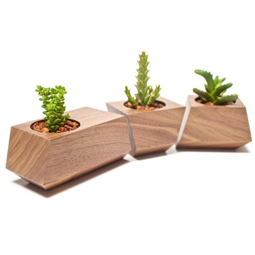 DISCONTINUED Boxcar Planter- Walnut