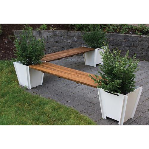 flat pack l shape planter bench modern patio furniture. Black Bedroom Furniture Sets. Home Design Ideas