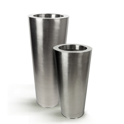 Stainless Steel Cone Planter - Satin Finish