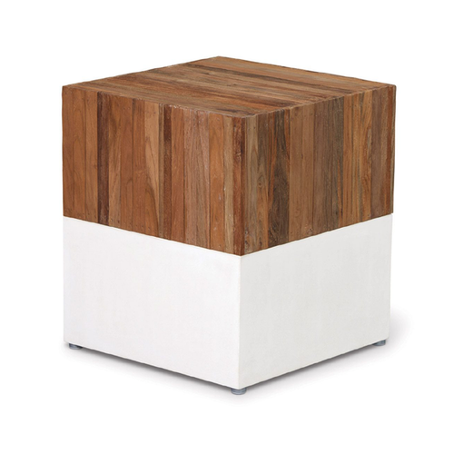 Perpetual Teak Magic Cube Stool and Table