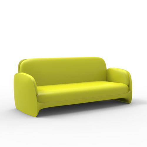 Pistachio Green Leather Sofa: Vondom Pezzettina Modern Resin Patio Sofa