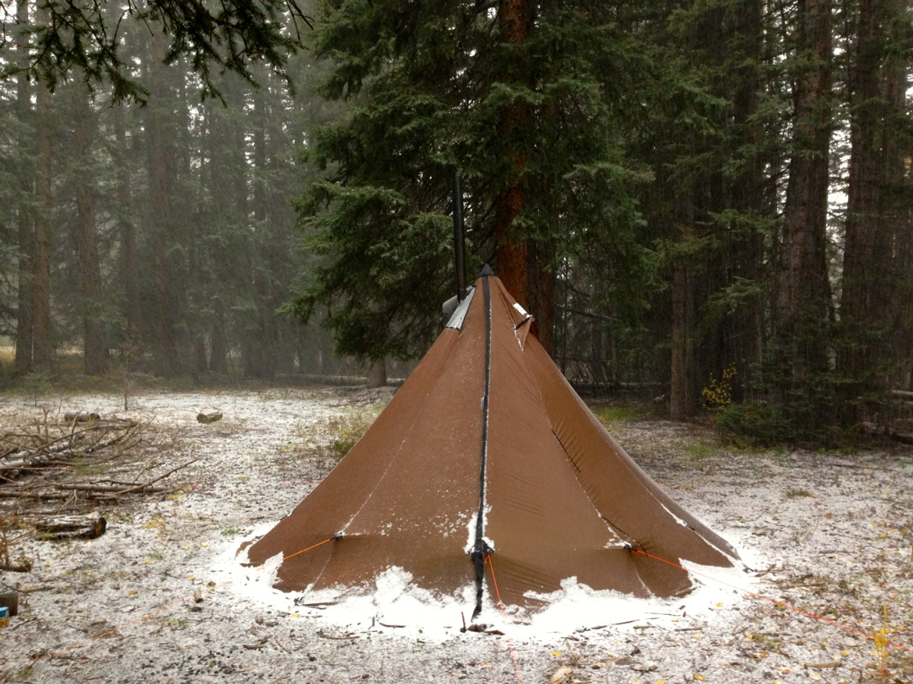 4 Person Tipi Hot Tent Combo & 4 Person Ultralight Tipi with Wood Stove