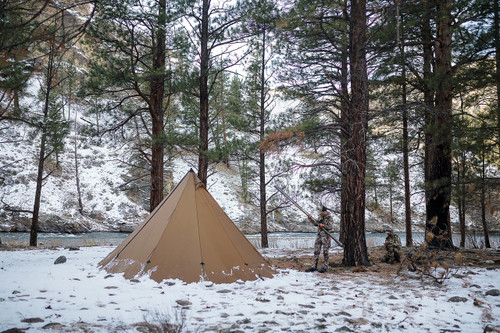 8 Person Tipi  Hot Tent Brown