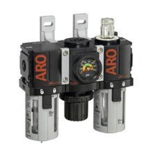 "Ingersoll Rand ARO C38121-821 Filter, Regulator, Lubricator (FRL) 1/4"" NPT | 46 CFM | Auto Drain"