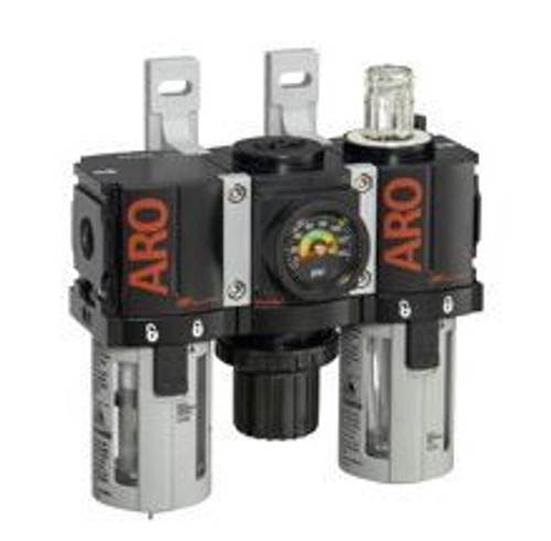 "Ingersoll Rand ARO C381A1-800 Filter, Regulator, Lubricator (FRL) 1/8"" NPT | 34 CFM | Manual Drain"